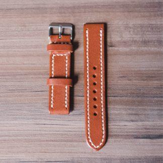 pulseira de relógio em couro whisky