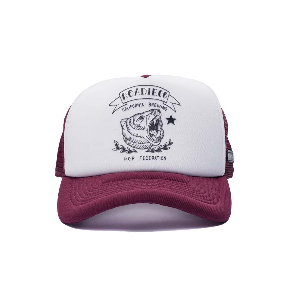 Boné Trucker Roadie Califórnia Branco e Vermelho - Compre Online 7bb374c5510