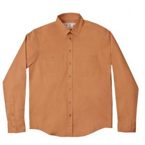 Camisa Sarja Manga Longa Camelo Cabra