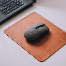 mouse pad de couro