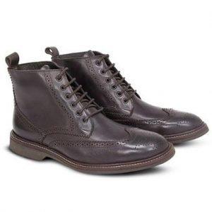 Sapato Casual Levanzzo Bota Brogue Carrara Vintage Masculino - Masculino-Café