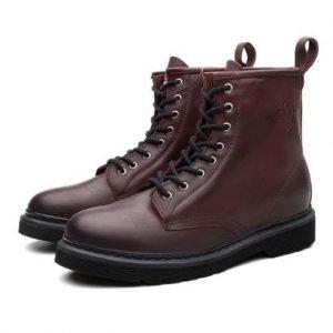 Bota Coturno Masculino Viena Couro Casual Leve Black Boots - Masculino-Vinho