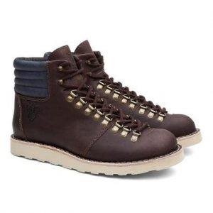 Bota Coturno Unissex Alaska Ohio Couro Conforto Black Boots - Unissex-Café