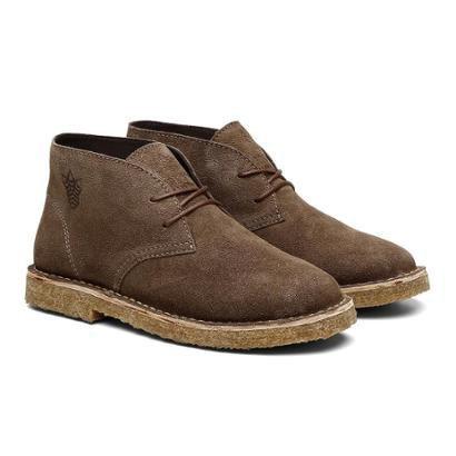 Bota Coturno Unissex Desert Boot Camurça Casual Black Boots – Unissex-Bege+Marrom