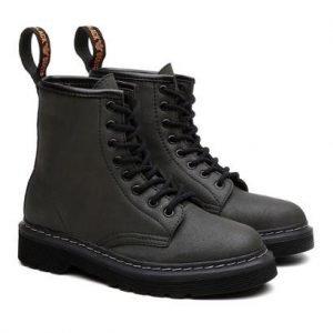 Bota Coturno Viena Unissex Vegano Cano Alto Black Boots - Unissex-Musgo