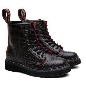 Bota Coturno Viena Unissex Vegano Animal Print Black Boots - Unissex-Preto
