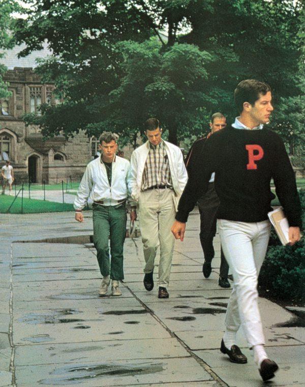 Calça chino nas faculdades americanas da década de 60