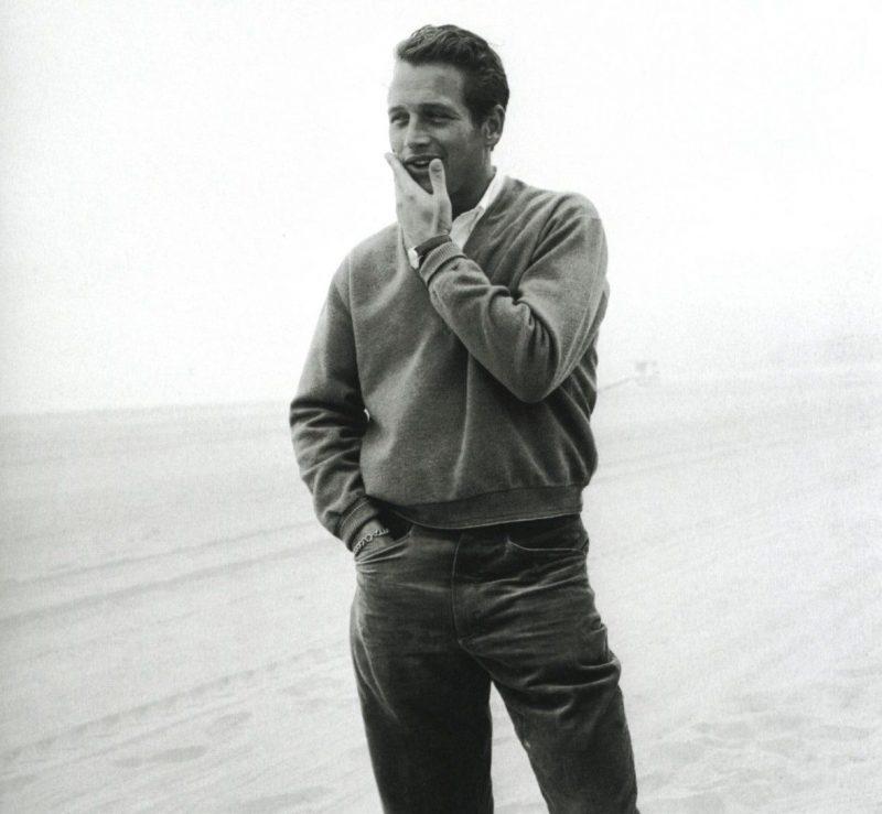 Paul Newman suéter gola v