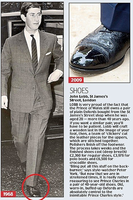 principe charles sapato restaurado