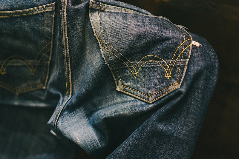 raw denim edwin fades