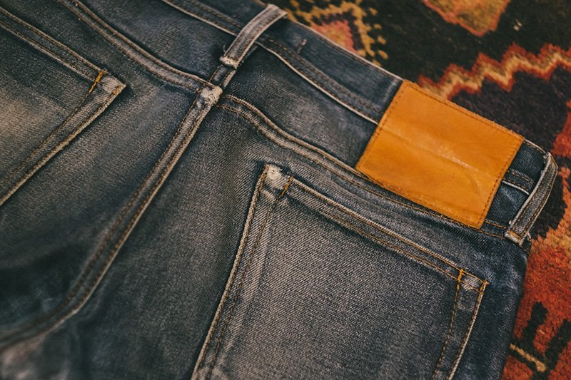 raw denim unbranded fades