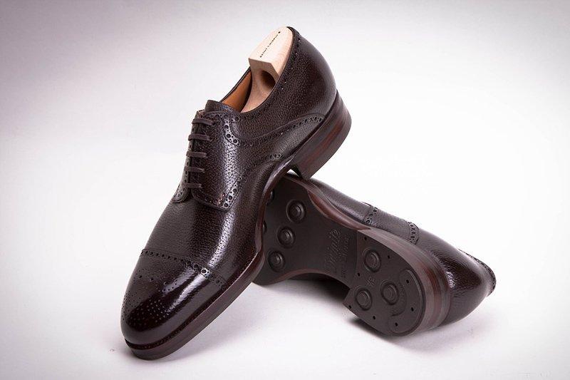 sapato social masculino derby marrom