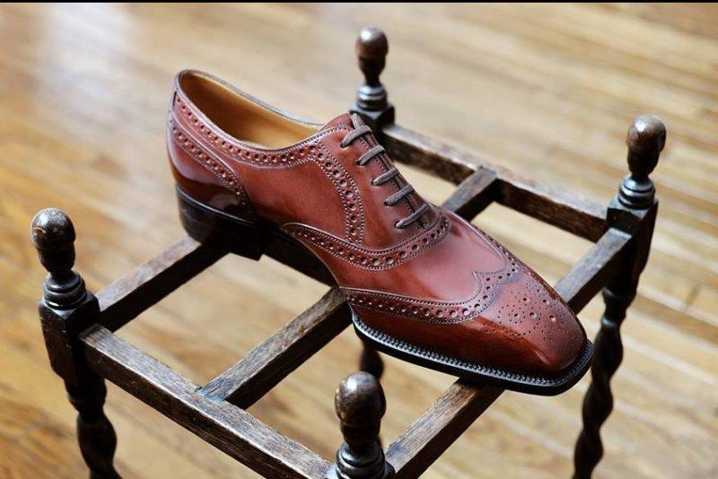 sapato masculino oxford brogue feito sob medida por yohei fukada