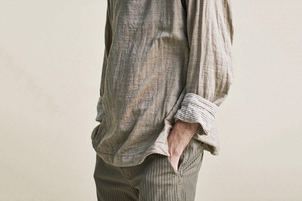 camisa de linho natural
