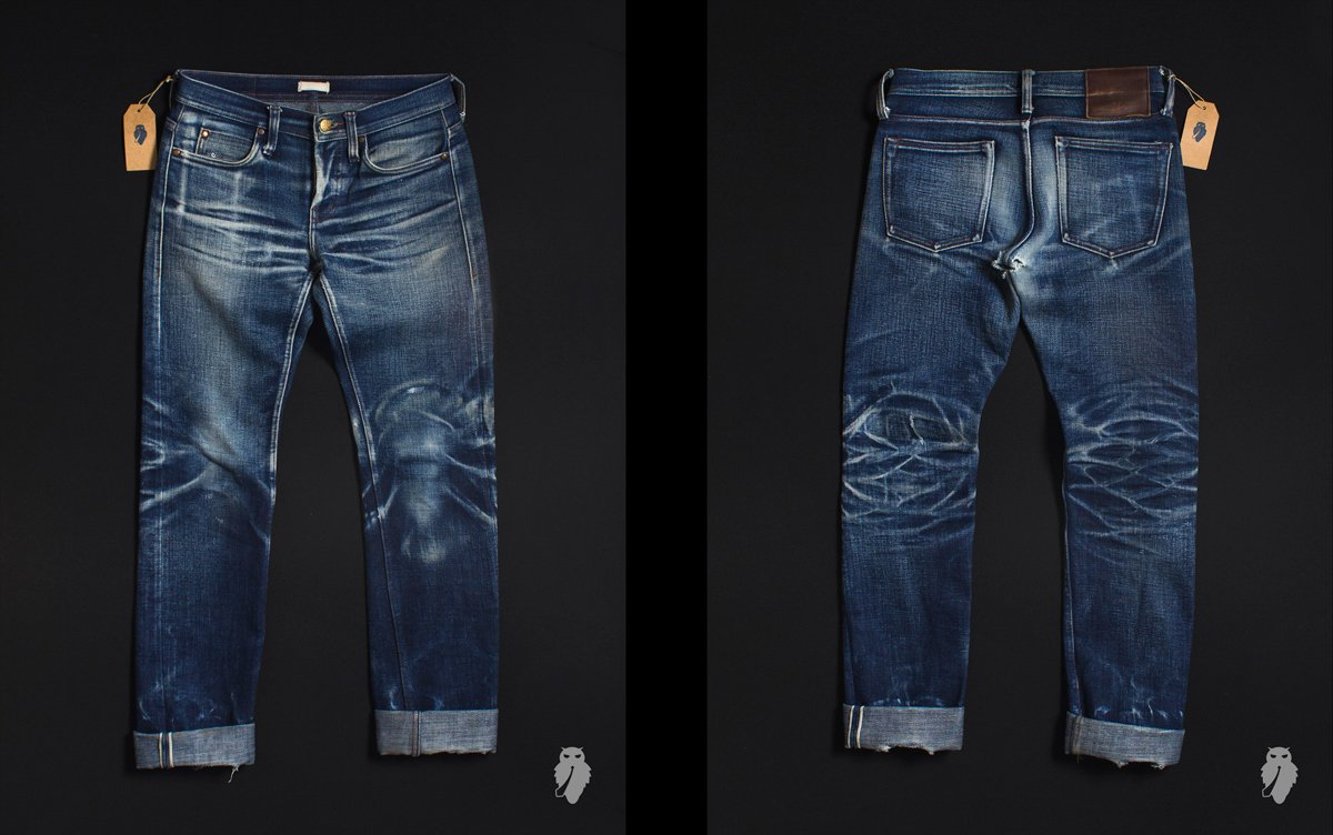 raw denim desbotado