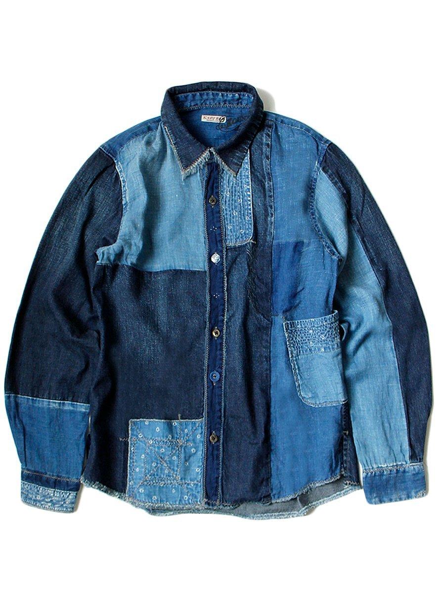 roupas com patchwork boro