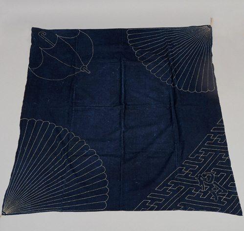 toalha japonêsa com costuras sashiko