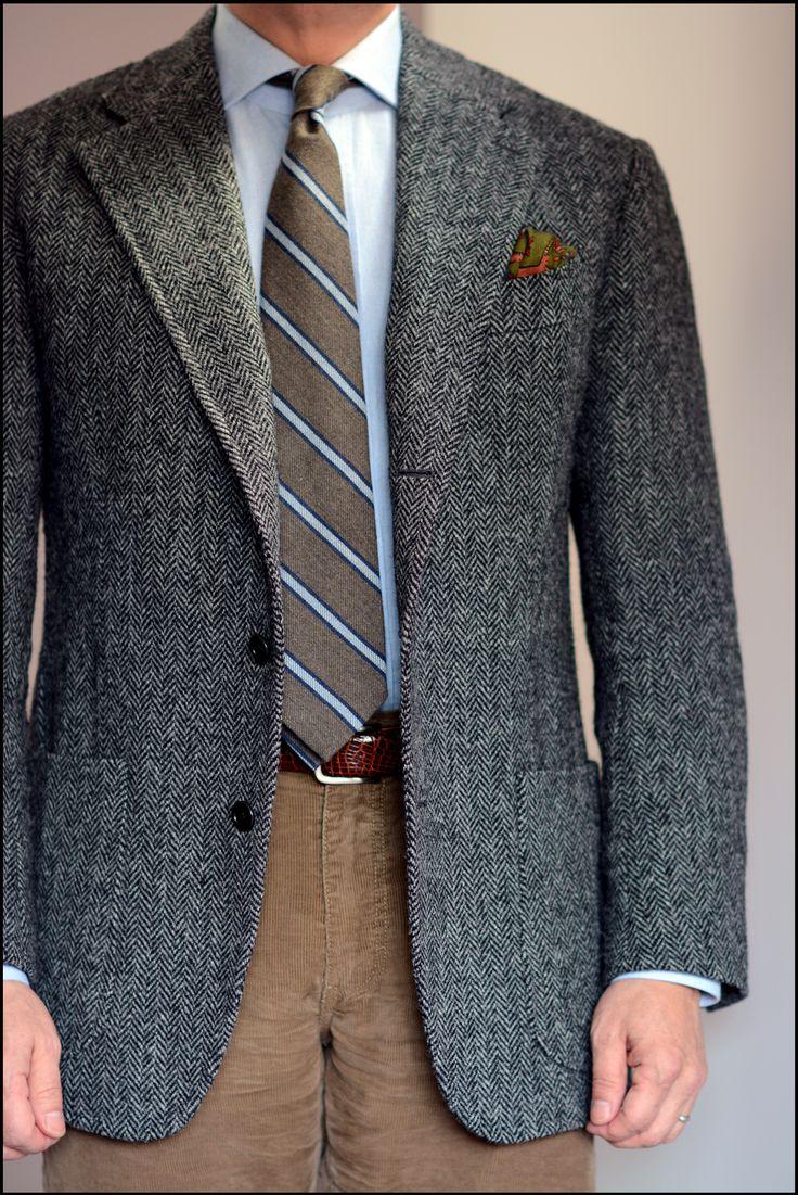 como usar blazer cinza de tweed