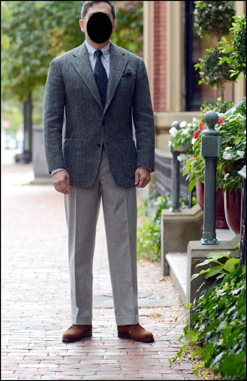 como usar blazer cinza com calça cinza