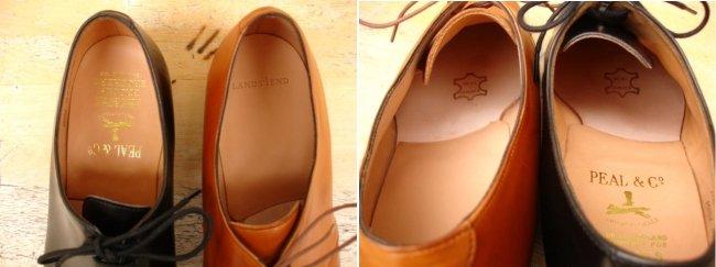 palmilha de couro em sapatos goodyear welted