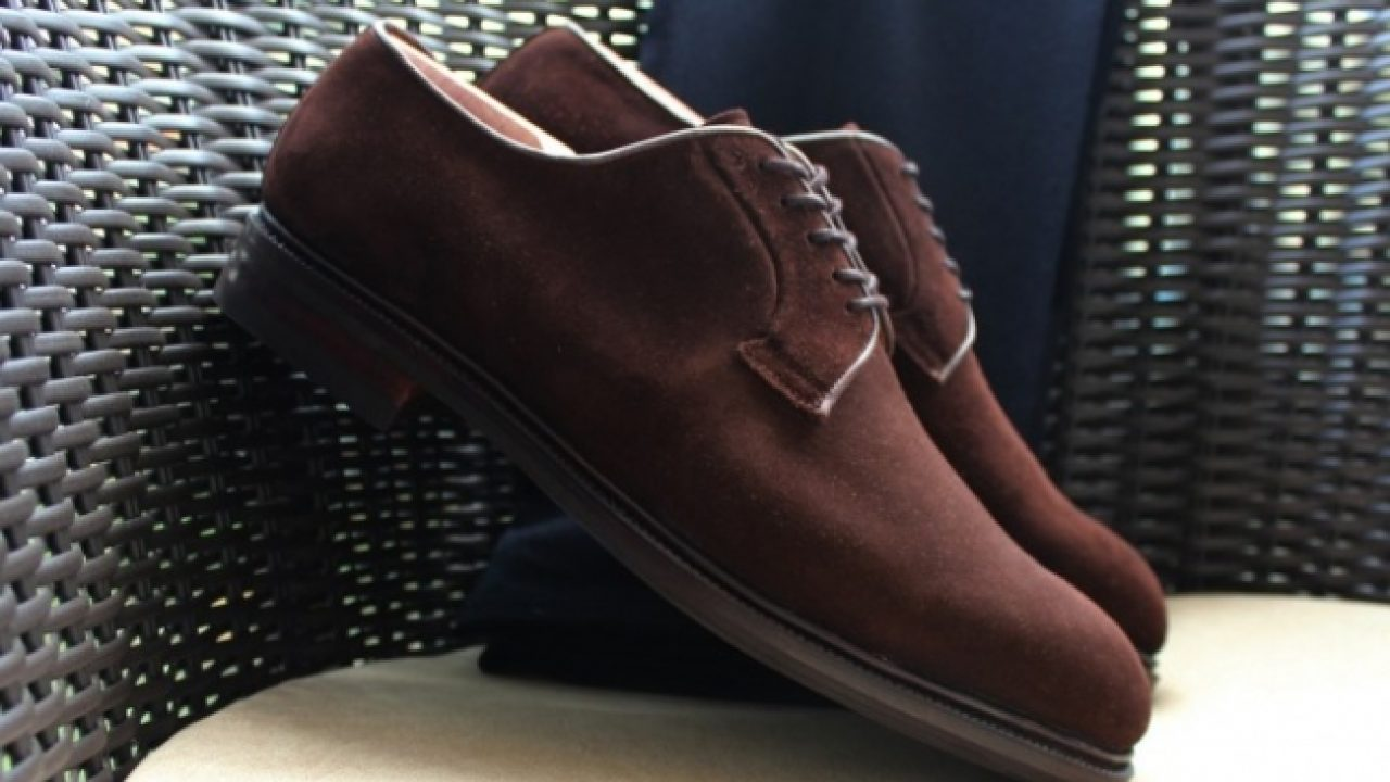 62a2497c4fcaa Sapato Derby Camurça  Review do Meermin Brown Suede Derby