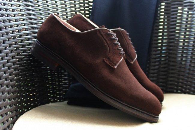 Sapato Meermin Derby de Camurça Marrom