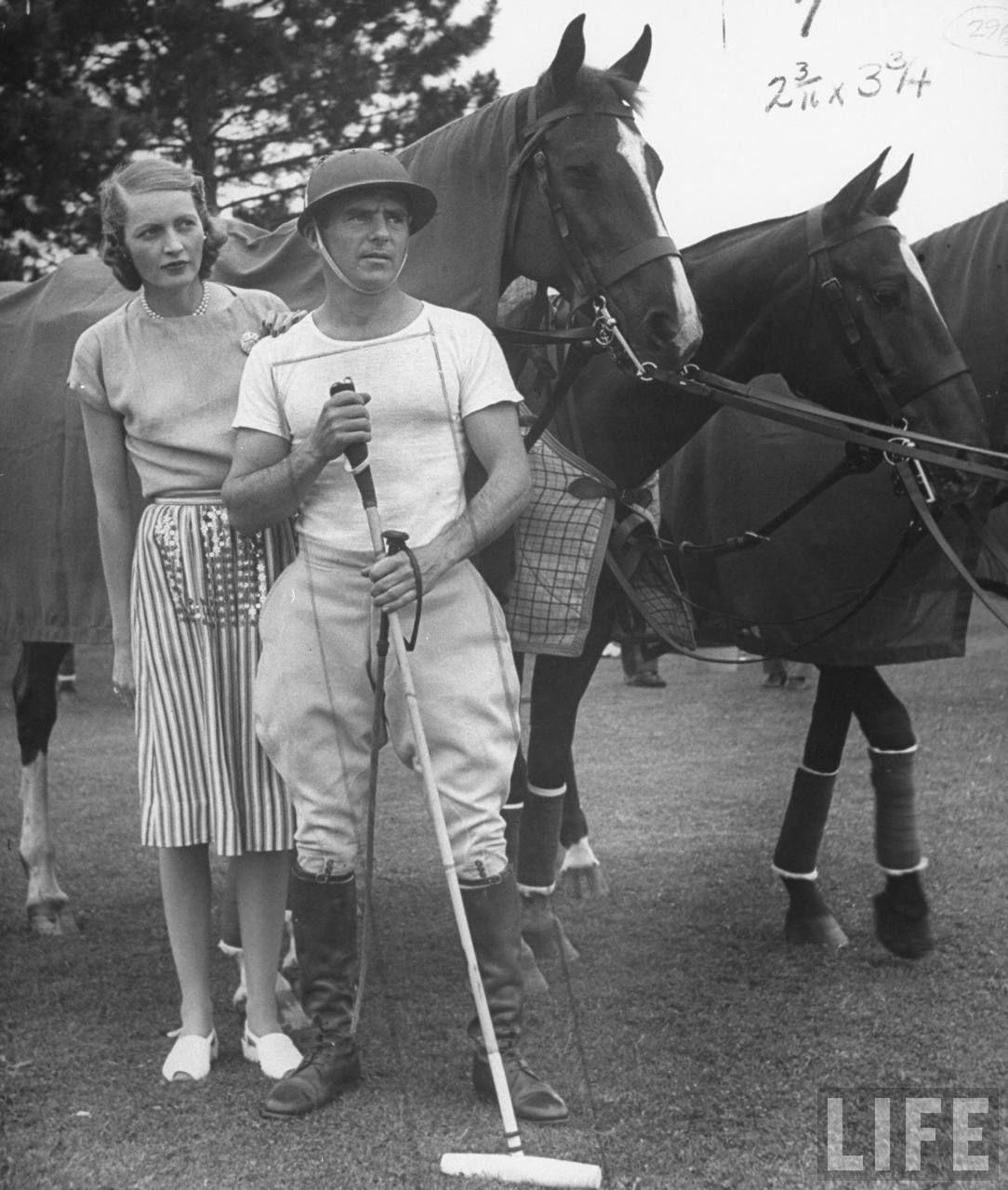 jogador de polo na década de 20