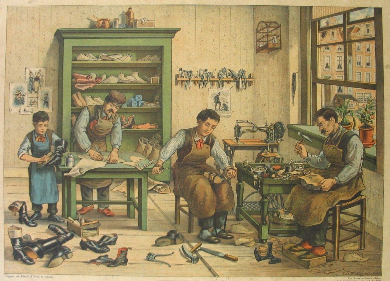 sapateiros trabalhando