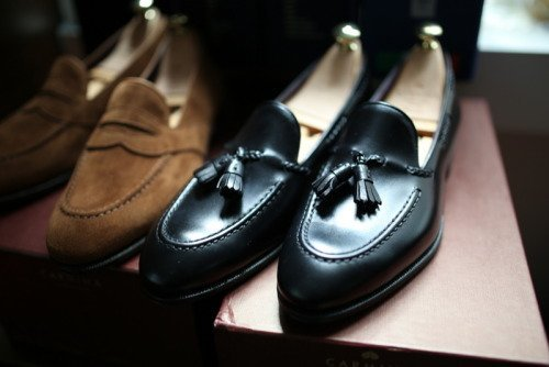 sapato tassel loafer preto
