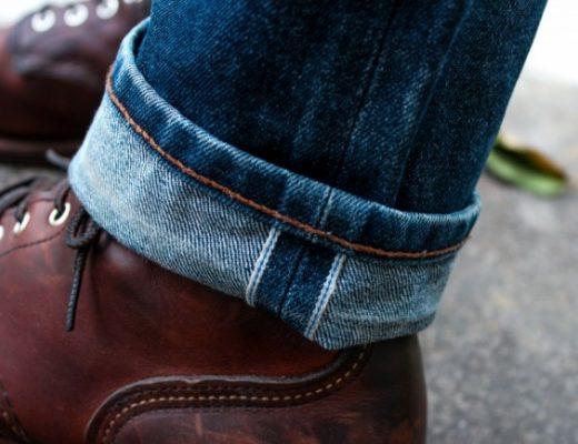 detalhe calça jeans selvedge