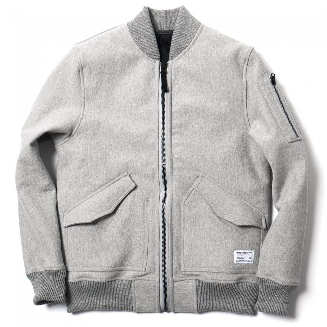 Jaqueta Ma-1 Haven x Reigning Champ Cinza de Jersey