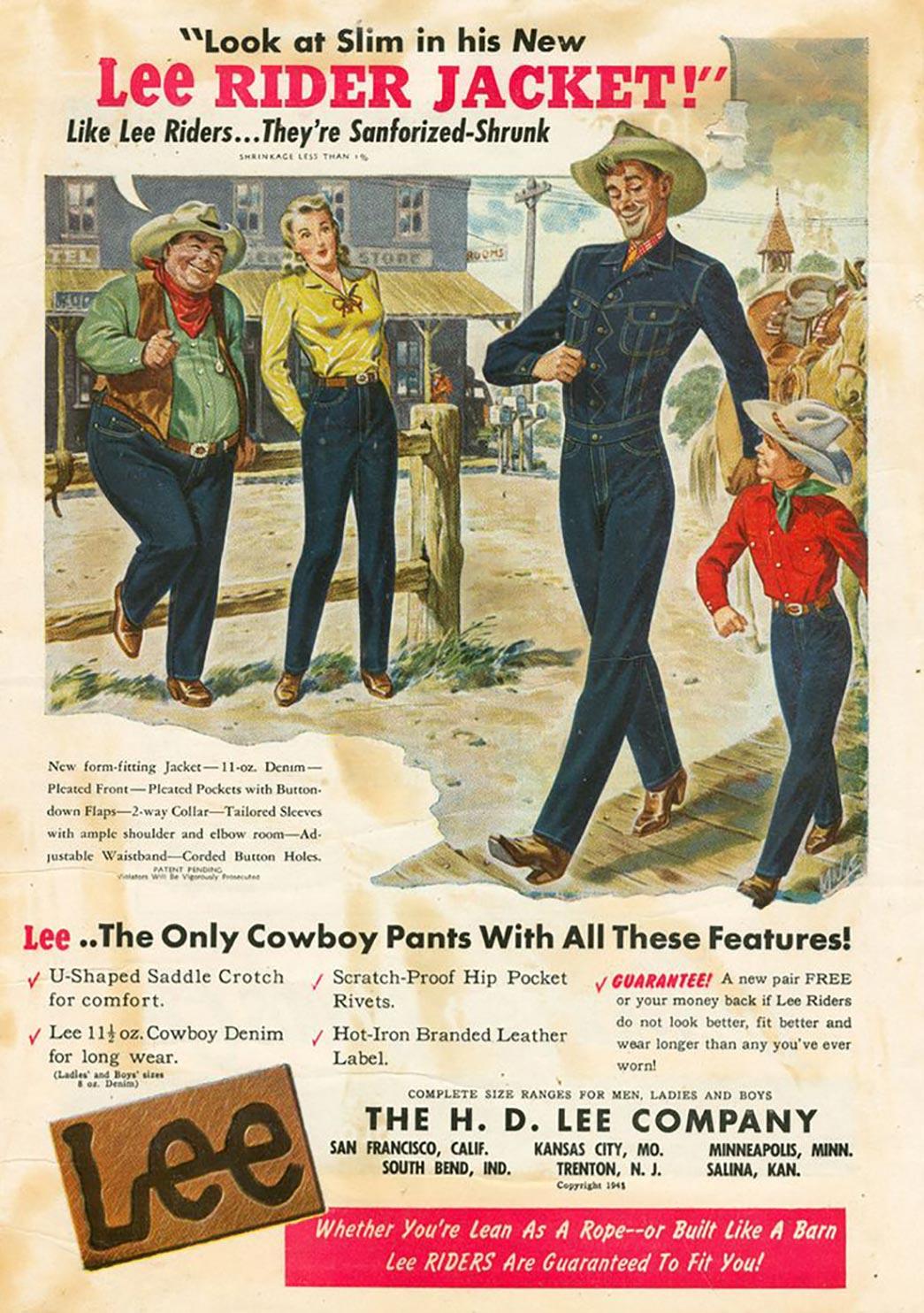 jeans lee história
