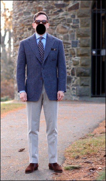 blazer azul com caimento perfeito