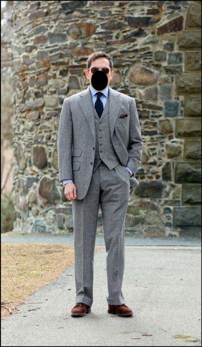 exemplos de combinação para terno e gravata com colete