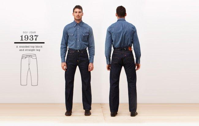 Jeans Levi's 501 de 1937