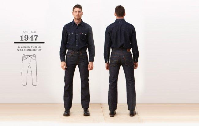Jeans Levi's 501 de 1947