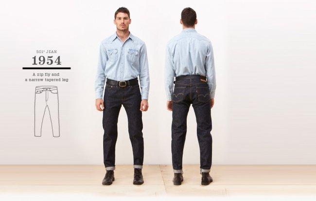 Jeans Levi's 501 de 1954