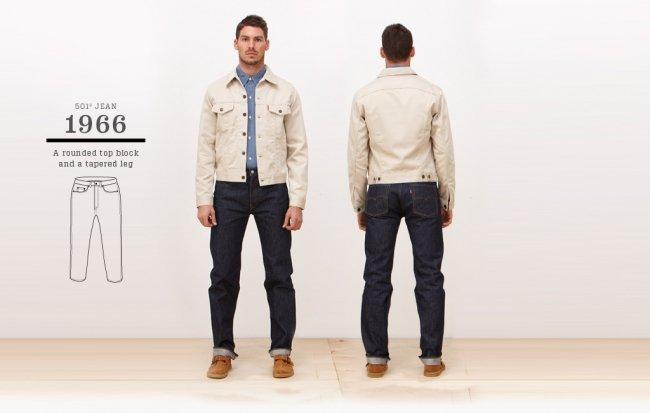 Jeans Levi's 501 de 1966