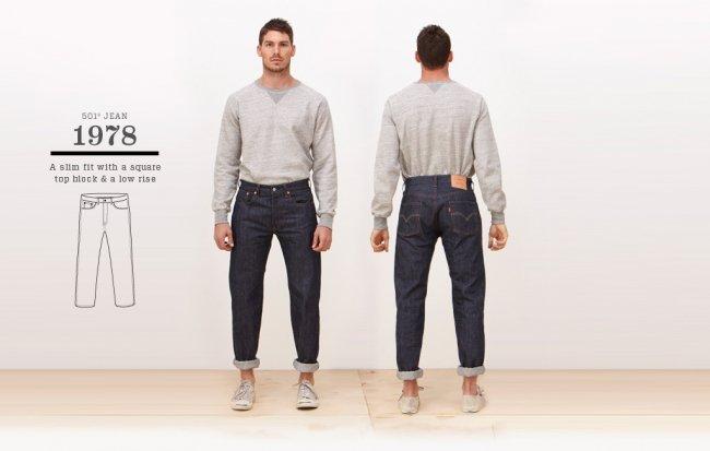 Jeans Levi's 501 de 1978