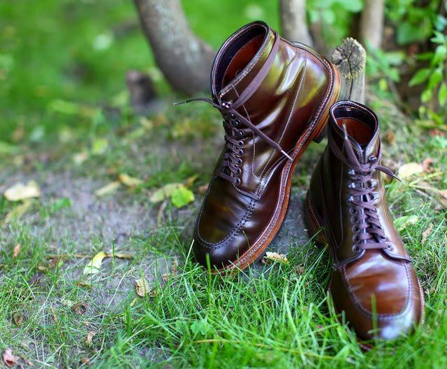 Bota alden indy boot em couro shell cordovan