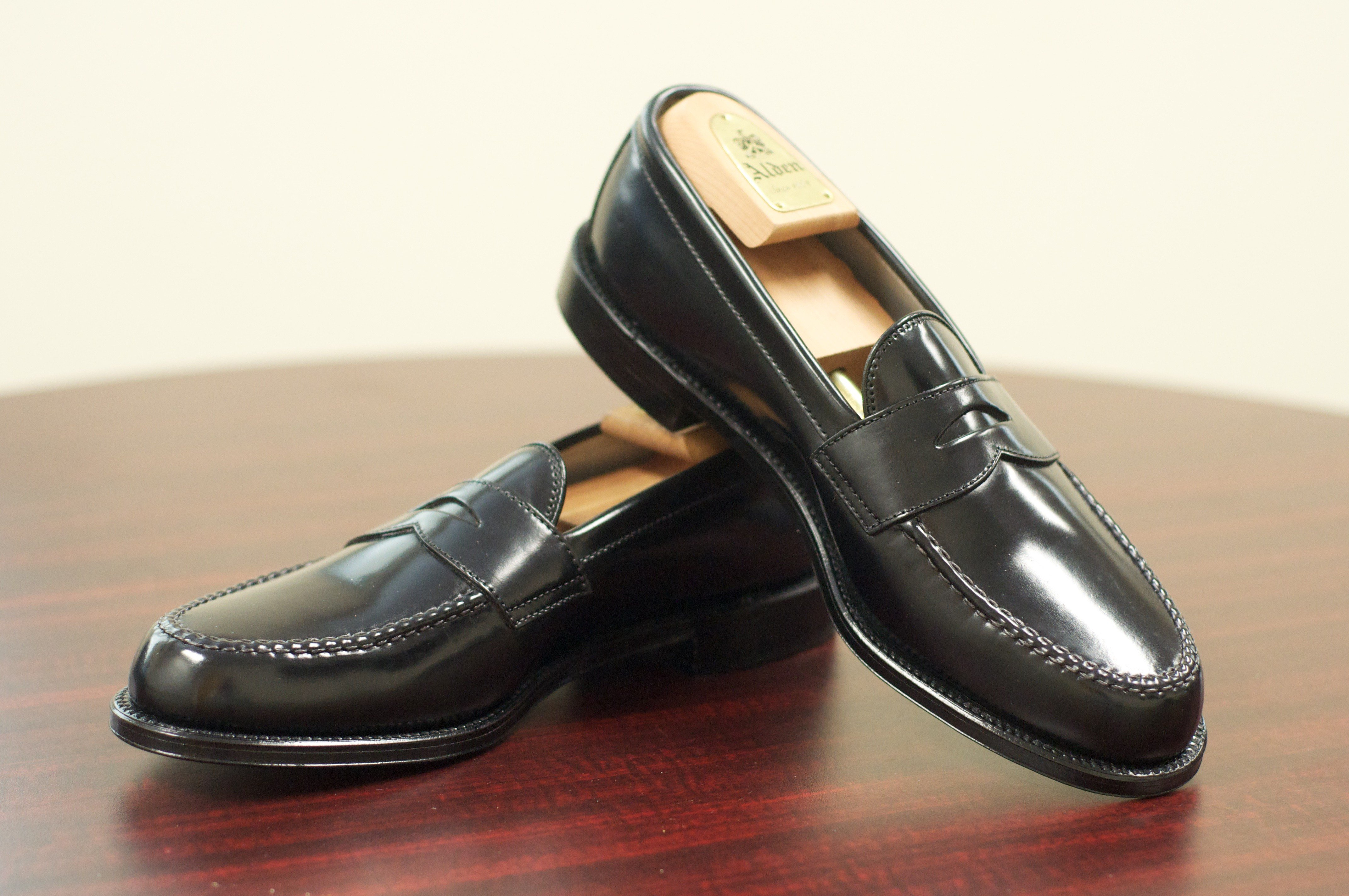penny loafer em couro shell cordovan