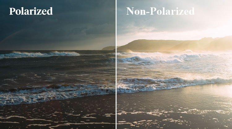 lente polarizada e nao polarizada