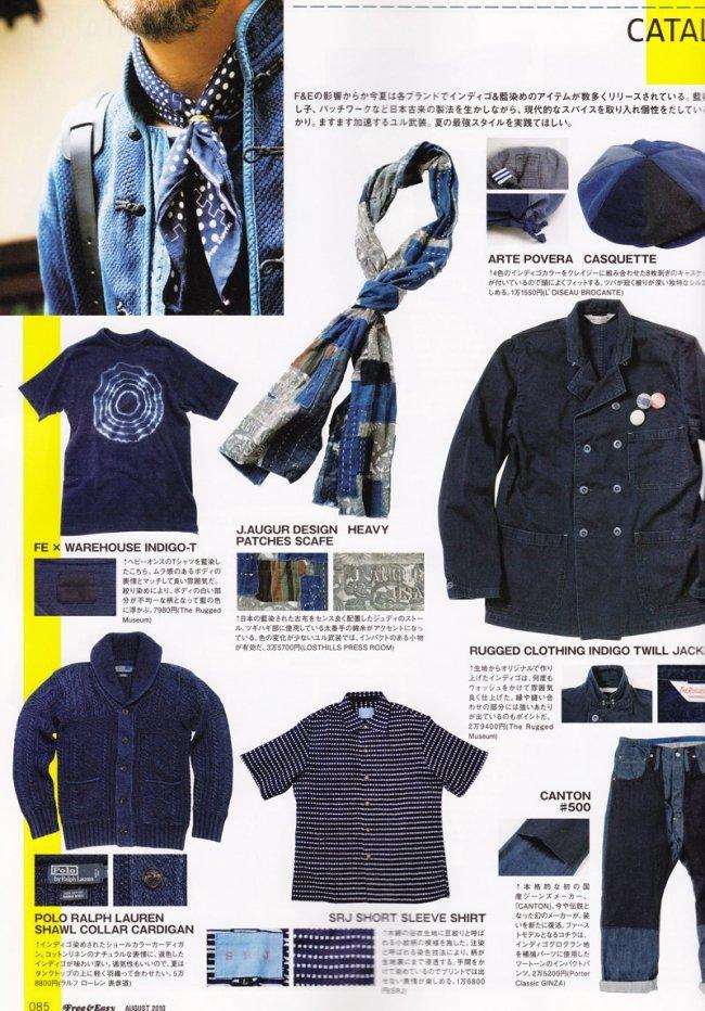 Roupas tingidas com indigo natural na revista de moda masuclina Free & Easy 3