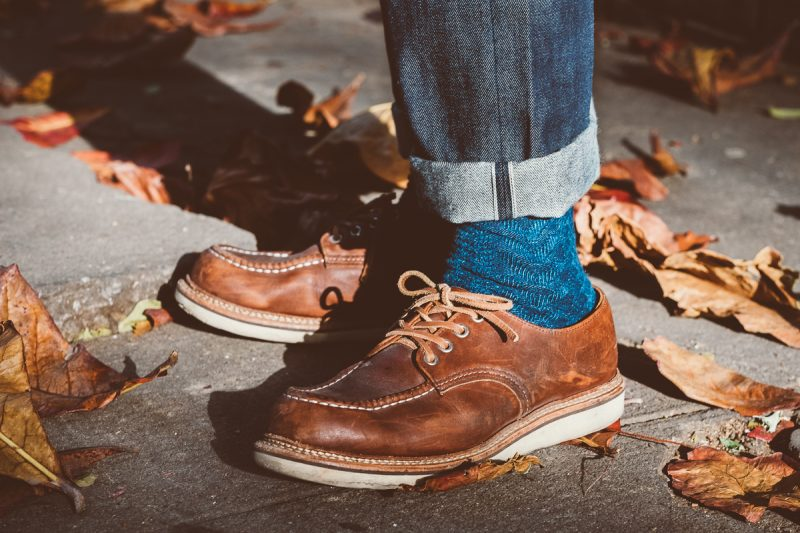 sapato redwing moc toe oxford