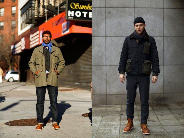 Fotos tiradas pelo Sartorialist em 2008-2009. As botas Moc Toe viraram fashion.