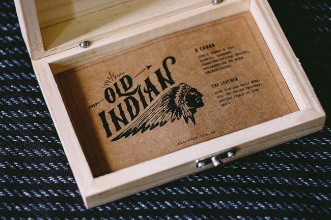 carteira braveman old indian