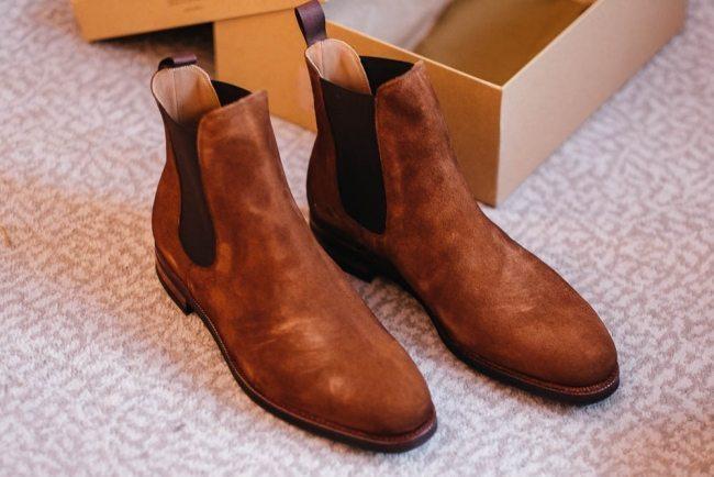 Meermin Snuff Suede Chelsea Boots