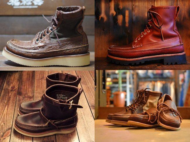 botas moc toe feitas à mão pela russell mocassin 7