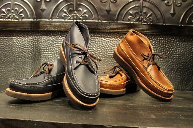 botas moc toe feitas à mão pela russell mocassin 3