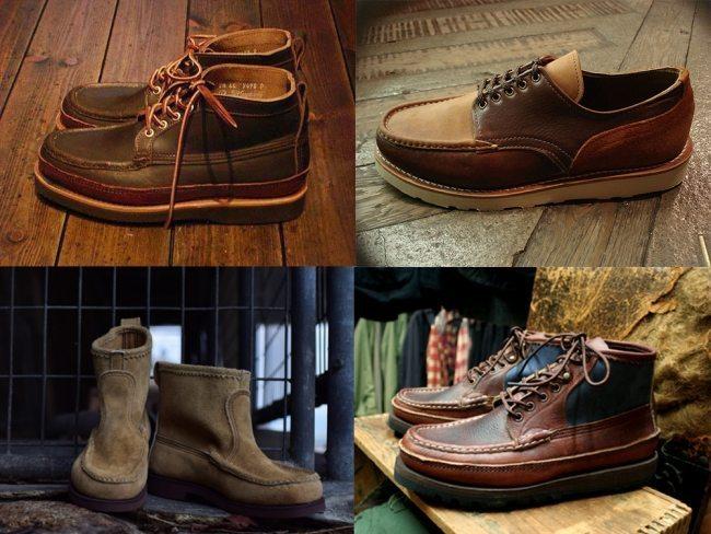 botas moc toe feitas à mão pela russell mocassin 2